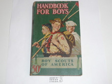1945 Boy Scout Handbook, Fourth Edition, Thirty-eighth Printing, Norman Rockwell Cover, just lt wear to the top of the spine