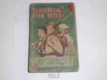 1943 Boy Scout Handbook, Fourth Edition, Thirty-sixth Printing, Norman Rockwell Cover, cover and spine worn, Distributed by American News