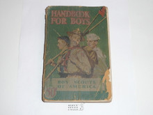 1941 Boy Scout Handbook, Fourth Edition, Thirty-fourth Printing, Norman Rockwell Cover, cover very worn and wearing through at the spine edge but the contents are solid