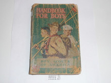 1941 Boy Scout Handbook, Fourth Edition, Thirty-fourth Printing, Norman Rockwell Cover, cover very worn and spine taped but the contents are solid