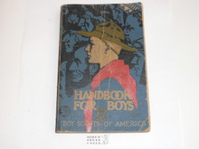 1938 Boy Scout Handbook, Third Edition, Thirtieth Printing, Norman Rockwell Cover, used with cover and spine wear