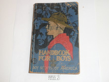 "1936 Boy Scout Handbook, Third Edition, Twenty-fifth Printing, Norman Rockwell Cover, pages/binding shows little use but cover and edge wear, first printing with ""50c"" on the cover"