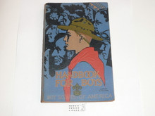 1932 Boy Scout Handbook, Third Edition, Seventeenth Printing, Norman Rockwell Cover, near MINT with a little food residue on the back cover