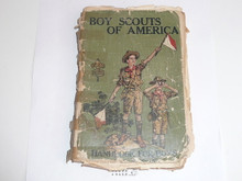 1923 Boy Scout Handbook, Second Edition, Twenty-seventh Printing, spine taped with loose pages and cover wear…good for looking at