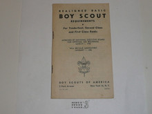 1948 Boy Scout Handbook Supplement, Realigned Boy Scout Requirements, 2-48 printing