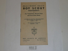 1948 Boy Scout Handbook Supplement, Realigned Boy Scout Requirements, 3-48 printing