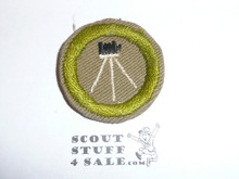 Photography - Type C - Tan Crimped Merit Badge (1936-1946), was sewn but in very good condition