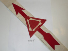 1930's Felt Vigil Order of the Arrow Sash With Felt Arrow, Felt Triangle and Felt Arrows in Triangle, Thin Felt Arrows, Very Lt Use, Not Lined on Back, 28""