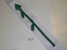 1970's Obscure Green Arrow Sash From Unknown Lodge, Mint Condition, 29""