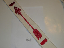 1960's Embroidered On Twill Brotherhood Order of the Arrow Sash, Heavy Twill With Narrow Edge Border, Lt Use, 26""