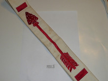 1960's Embroidered On Twill Brotherhood Order of the Arrow Sash, Heavy Twill With Narrow Edge Border, Used, 27""