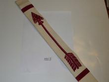 "1950's Flocked Felt Brotherhood Order of the Arrow Sash, Mint Condition, 30"""