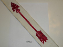 1980's Embroidered On Twill Ordeal Order of the Arrow Sash, Loose Merrow Stitched Edge, Very Good Used Condition, 27""