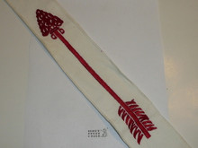 1960's Embroidered On Twill Ordeal Order of the Arrow Sash, Heavy Twill With Narrow Edge Border, Mint Condition, 26""