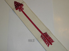 1960's Embroidered On Twill Ordeal Order of the Arrow Sash, Heavy Twill With Narrow Edge Border, Mint Condition, 27""