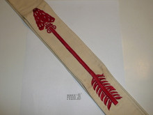 """1950's Embroidered On Twill Ordeal Order of the Arrow Sash, Heavy Twill and Edge Embroidery, Best Quality, Very Good Used Condition, 27"""""""