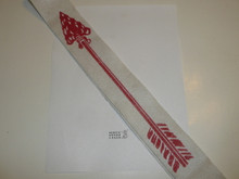1950's Screen Printed Felt Ordeal Order of the Arrow Sash, Felt Material of Different Quality than Other Sashes, 31""