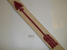1950's Flocked Felt Ordeal Order of the Arrow Sash, Used, 29""