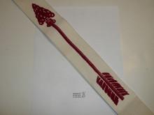 "1950's Flocked Felt Ordeal Order of the Arrow Sash, Mint Condition, 30.5"""