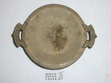 Early Bronze Cast Boy Scout Ash Tray/Trinket Holder