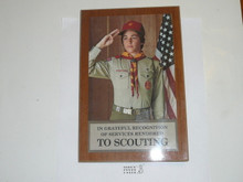 1980's Boy Scout Recognition Standing Bookshelf Ornament