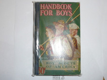 1944 Boy Scout Handbook, Fourth Edition, Thirty-seventh Printing, Norman Rockwell Cover, library bound, MINT condition