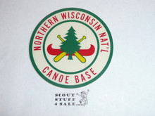 Northern Wisconsin National Canoe Base Sticker #2