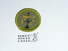 Weather - Type F - Rolled Edge Twill Merit Badge (1961-1968)