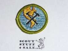 Geology - Type G - Fully Embroidered Cloth Back Merit Badge (1961-1971)