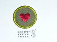Personal Health - Type F - Rolled Edge Twill Merit Badge (1961-1968)
