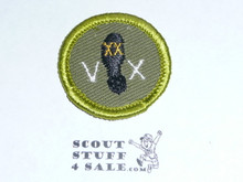 Hiking - Type F - Rolled Edge Twill Merit Badge (1961-1968)