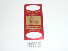 Pony Express Council 1960's Round-Up Neckerchief Slide