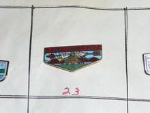 Wenasa Quenhotan O.A. Lodge #23 Flap Shaped Pin - Scout