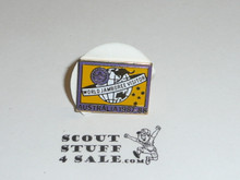 1987/1988 World Jamboree Visitor Pin, Purple