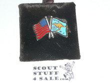1987/1988 World Jamboree USA and Jamboree Flag Pin