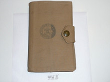 1930's Boy Scout Handbook in the Offical BSA Canvas Book Cover, Third Edition, unknown Printing because title page is missing, Norman Rockwell Cover