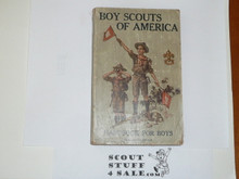 1916 Boy Scout Handbook, Second Edition, 14th Printing, Very Good Condition, Minimal Wear