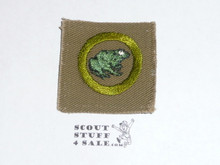 Zoology - Type A - Square Tan Merit Badge (1911-1933)