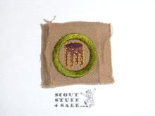 Woodwork (stool) - Type A - Square Tan Merit Badge (1911-1933), lt use