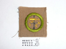 Weather - Type A - Square Tan Merit Badge (1911-1933), near mint