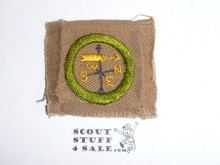 Weather - Type A - Square Tan Merit Badge (1911-1933), lt use