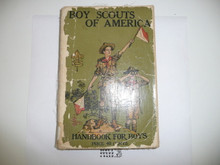 1925 Boy Scout Handbook, Second Edition, Thirty-first Printing, spine and cover wear