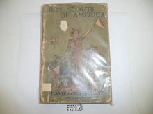 1922 Boy Scout Handbook, Second Edition, Twenty-fifth Printing, spine and cover wear