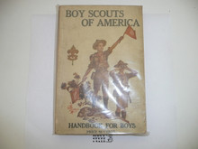 1920 Boy Scout Handbook, Second Edition, Twenty-second Printing, cover almost white, near MINT