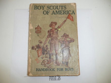 """1918 Boy Scout Handbook, Second Edition, Nineteenth Printing, """"Nineteenth Edition"""" on title page and no price on cover, some spine and cover wear"""