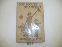 """1918 Boy Scout Handbook, Second Edition, Nineteenth Printing, """"PRICE 50 CENTS"""" on cover and cover nearly white, minimal wear"""