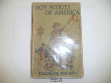 1917 Boy Scout Handbook, Second Edition, Seventeenth Printing, considerable spine wear