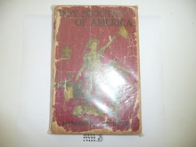 1917 Boy Scout Handbook, Second Edition, Sixteenth Printing, dark red cover, spine and cover wear