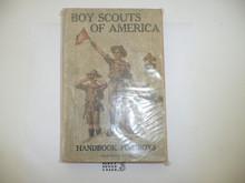 1916 Boy Scout Handbook, Second Edition, Fourteenth Printing, a little spine wear