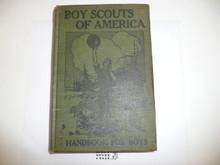 1918 Boy Scout Handbook, Second Edition, Eighteenth Printing, Hardbound, near MINT